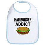 HAMBURGER ADDICT Bib
