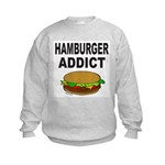 HAMBURGER ADDICT Kids Sweatshirt