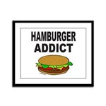 HAMBURGER ADDICT Framed Panel Print