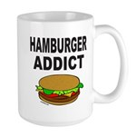HAMBURGER ADDICT Large Mug