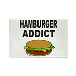 HAMBURGER ADDICT Rectangle Magnet (10 pack)