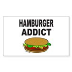 HAMBURGER ADDICT Rectangle Sticker 50 pk)