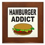 HAMBURGER ADDICT Framed Tile