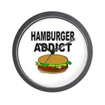 HAMBURGER ADDICT Wall Clock