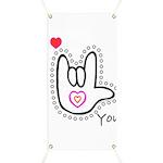 B/W Bold I-Love-You Banner