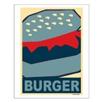 Burger in Red and Blue Small Poster
