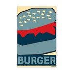 Burger in Red and Blue Mini Poster Print