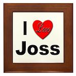 I Love Joss Framed Tile