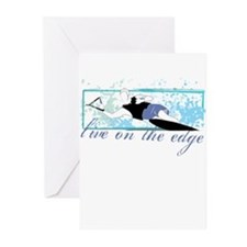 Live on the edge Slalom Greeting Cards (Pk of 20)
