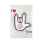 B/W Bold I-Love-You Rectangle Magnet (100 pack)