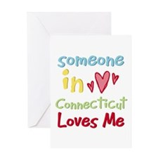 Someone in Connecticut Loves Me Greeting Card