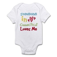 Someone in Connecticut Loves Me Infant Bodysuit