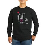 B/W Bold I-Love-You Long Sleeve Dark T-Shirt