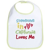 Someone in California Loves Me Bib