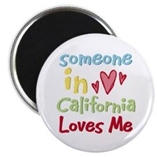"Someone in California Loves Me 2.25"" Magnet (10 pa"
