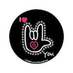 B/W Bold I-Love-You Black 3.5