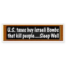 USA Israel Zionist Palestine Bumper Bumper Sticker
