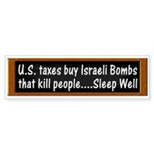 USA Israel Zionist Palestine Bumper Car Sticker