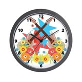 Star Guitars Wall Clock