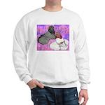 Trumpeter Pigeons and Flowers Sweatshirt