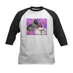 Trumpeter Pigeons and Flowers Kids Baseball Jersey