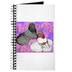 Trumpeter Pigeons and Flowers Journal