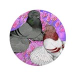 Trumpeter Pigeons and Flowers 3.5
