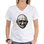 Mahatma Gandhi Women's V-Neck T-Shirt