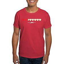 zelda hyrule life hearts T-Shirt