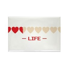 zelda hyrule life hearts Rectangle Magnet