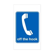off the hook funny tshirt Rectangle Decal