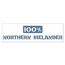 100 Percent Northern Irelande Bumper Car Sticker