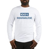 100 Percent Congolese Long Sleeve T-Shirt