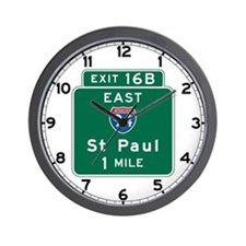 St. Paul, MN Highway Sign Wall Clock
