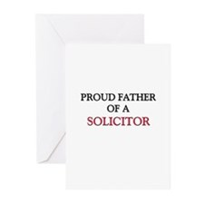 Proud Father Of A SOLICITOR Greeting Cards (Pk of