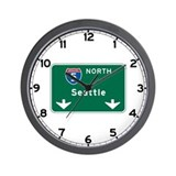 Seattle, WA Highway Sign Wall Clock