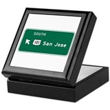 San Jose, CA Highway Sign Keepsake Box