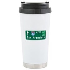 San Francisco, CA Highway Sign Ceramic Travel Mug