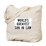 Worlds Greatest Son In Law Tote Bag