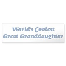 Worlds Coolest Great Granddau Bumper Sticker