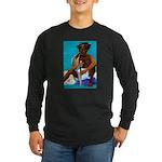 Dread with Machete Long Sleeve Dark T-Shirt