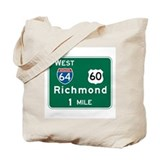 Richmond, VA Highway Sign Tote Bag