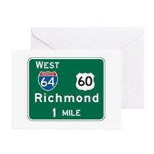 Richmond, VA Highway Sign Greeting Cards (Pk of 10