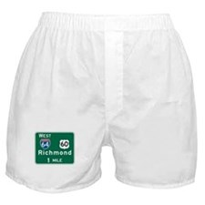 Richmond, VA Highway Sign Boxer Shorts
