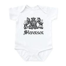 Stevenson Vintage Crest Family Name Infant Bodysui