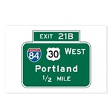 Portland, OR Highway Sign Postcards (Package of 8)