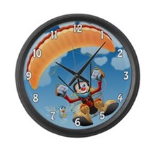 Flying High Paramotor Large Wall Clock