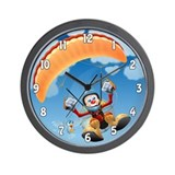 Flying High Paramotor Wall Clock