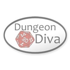 D&D Diva sticker