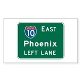 Phoenix, AZ Highway Sign Rectangle  Aufkleber